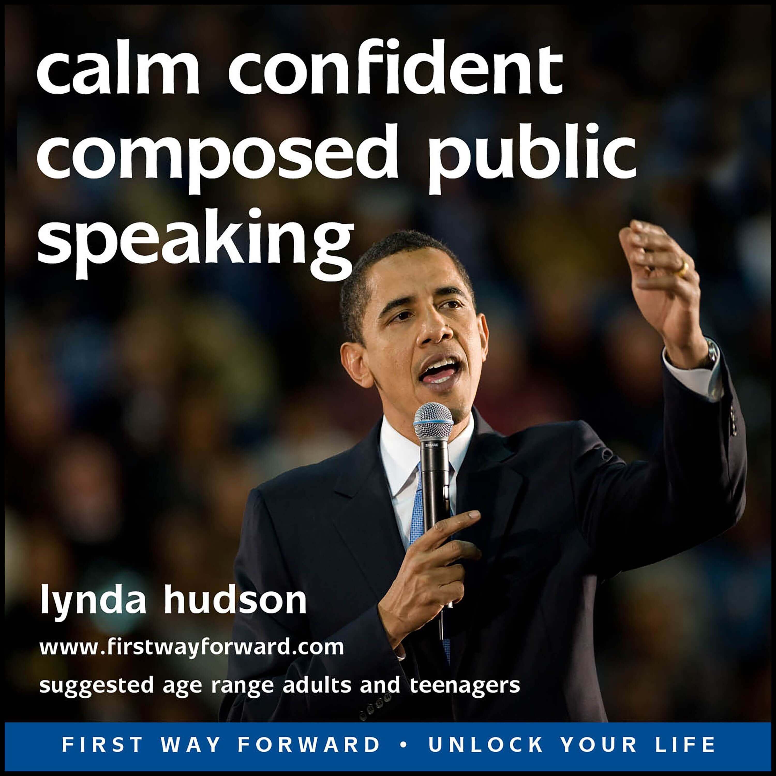Calm, confident composed public speaking