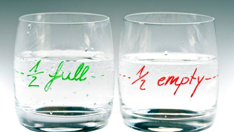 Half full or half empty … does it really matter?