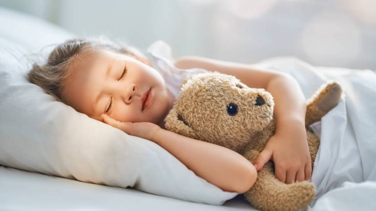 Do you wish your young child would sleep like this?